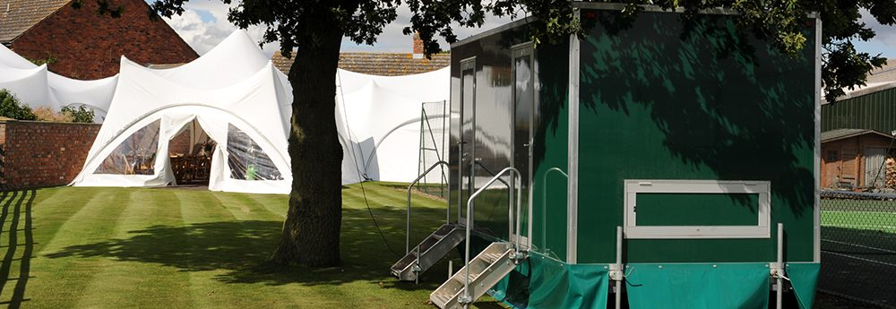 marquee hire toilets