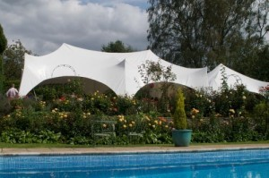 Marquee by pool