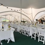 The wedding marquee ready for the guests