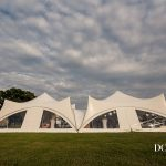 The trapeze marquees at Oak Tree Farm wedding venue