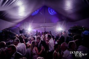 Wedding disco in a marquee