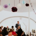 wedding speeches at a marquee wedding