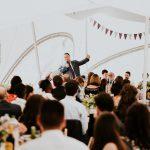 Best man's speech in a marston Moor wedding marquee