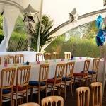 garden party marquee balloons