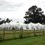 Marquee set up in a paddock