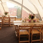 tressle table marquee