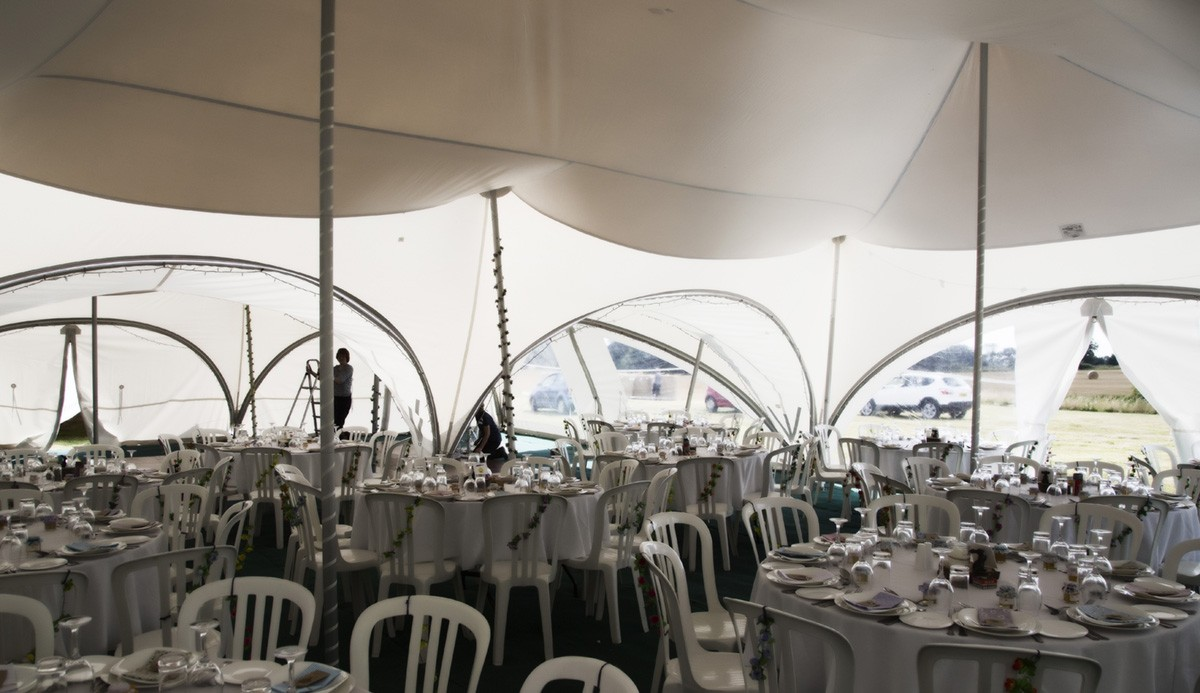 Styling a marquee for an event