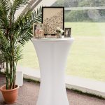 Outdoor wedding venue styling