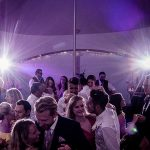 Dancing at a party in a marquee
