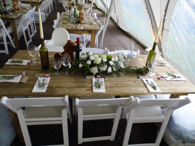 christening in a marquee