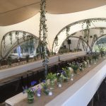 Boho Chic wedding in a marston moor marquee