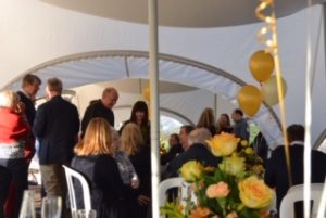 Golden wedding anniversary in a marquee