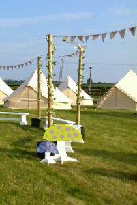 campsite at Oak Tree Farm wedding venue