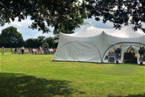 The marquee and ceremony area at Oak Tree Farm wedding venue