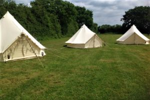 The tent field at our Yorkshire wedding venue