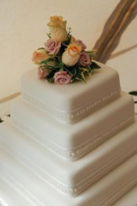 Wedding cake from Betty's