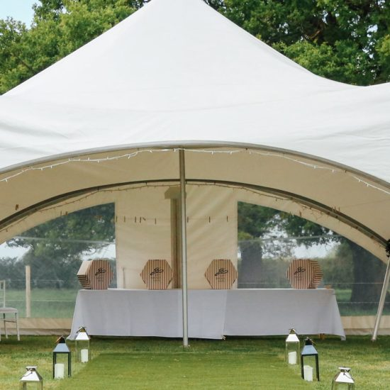 Oak tree farm wedding venue marquee
