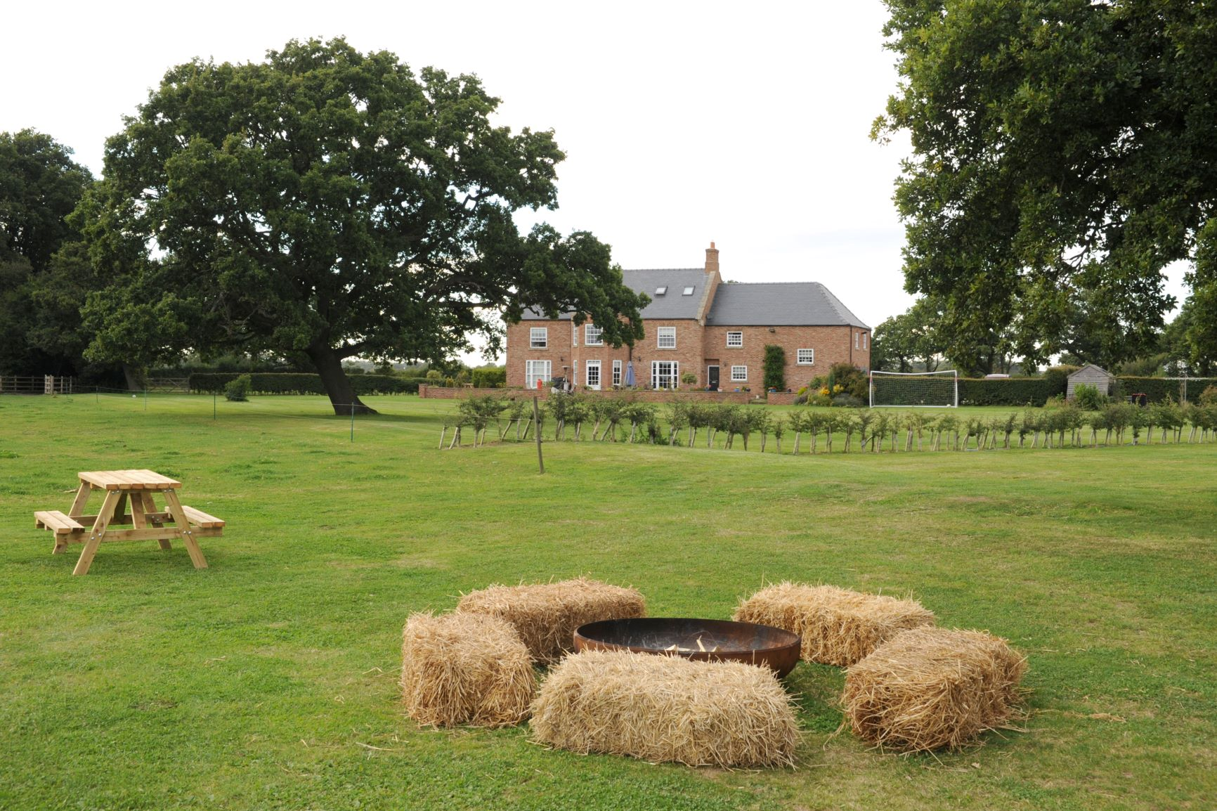 Fire pit at Marston Moor outdoor wedding venue